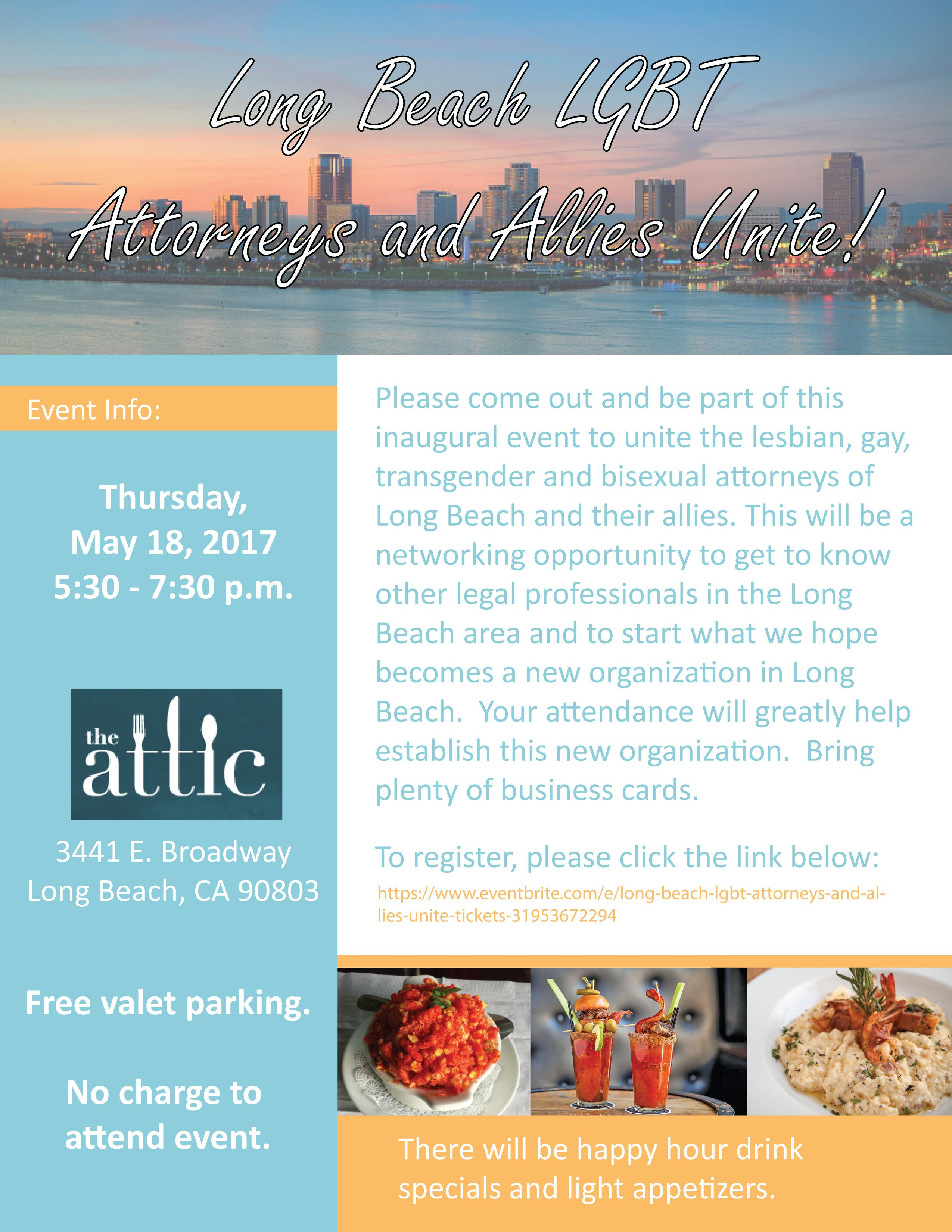 long beach lgbt attorneys and allies unite the attic on