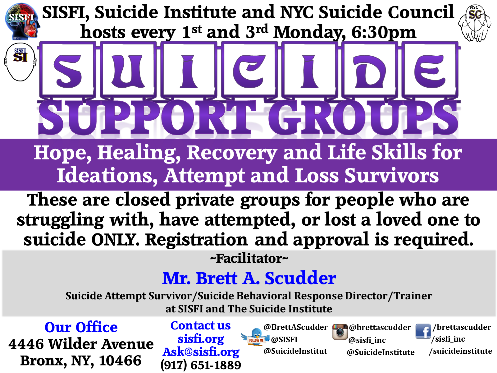 SISFI's Suicide Support Group for People with