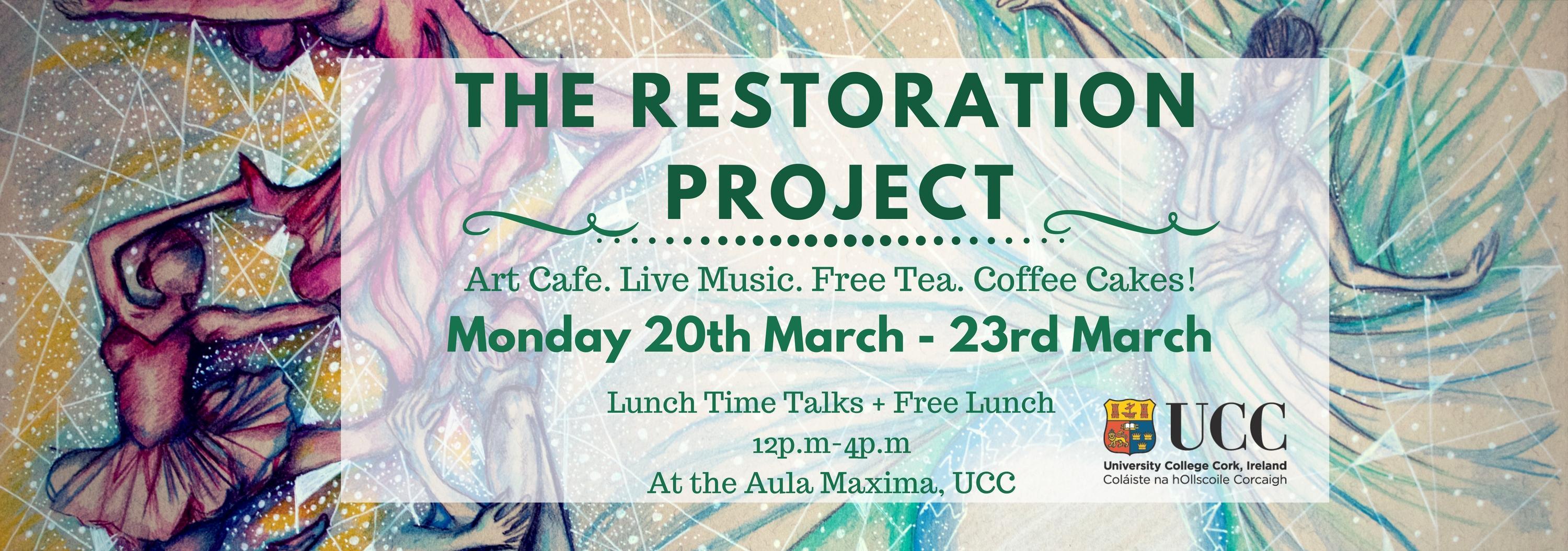 the restoration pop-up art gallery and cafe space @ aula maxima
