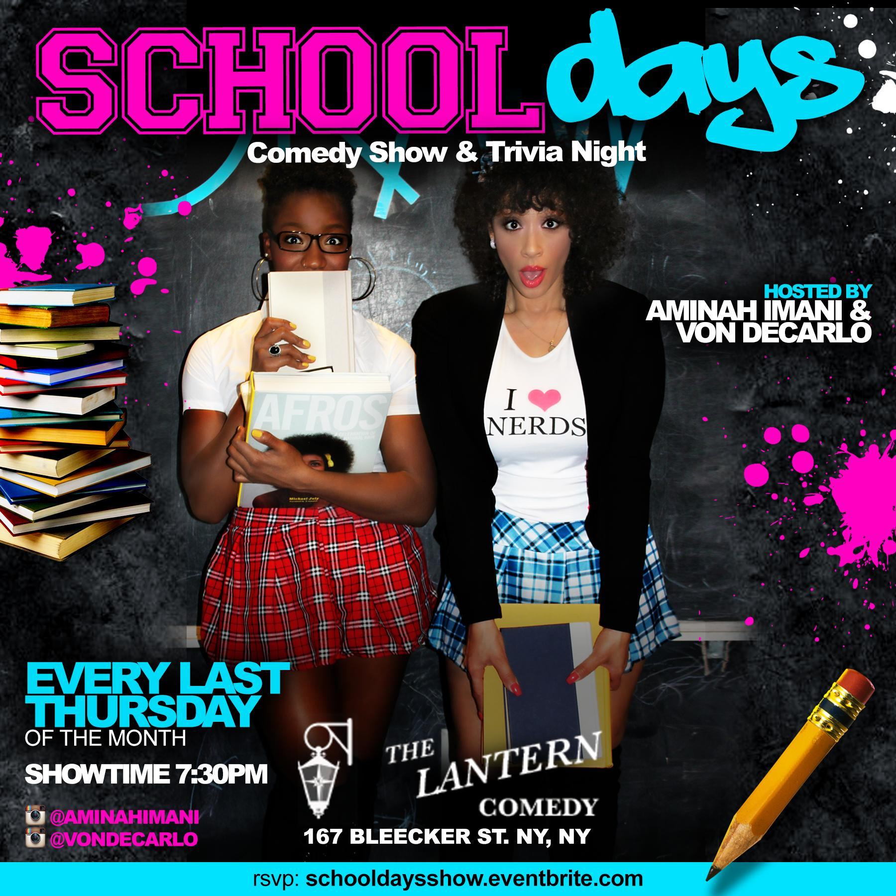School Days Comedy & Trivia Night Show