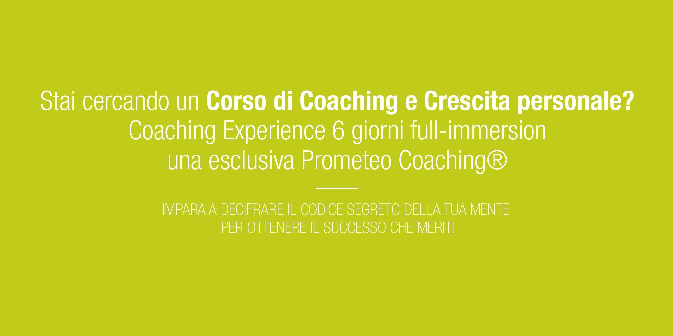 Corso di Crescita Personale e Coaching - PESC