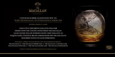 The Macallan International Whisky Day Dinner and Tasting