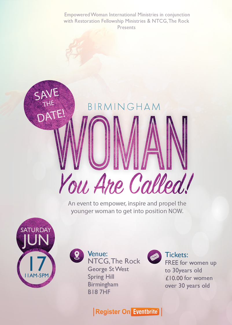 Woman You Are Called Conference Birmingham