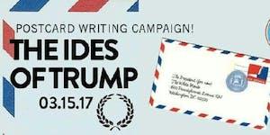 Trump Postcard Writing Happy Hour