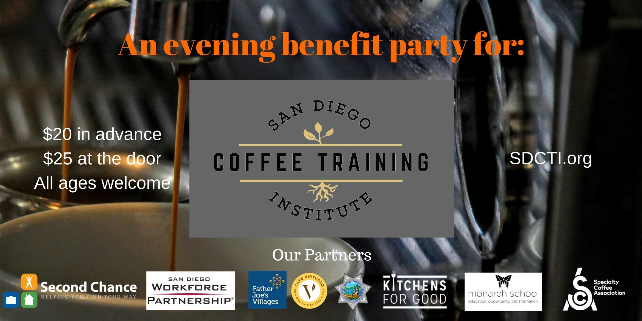 An Evening Benefit Party for San Diego Coffee