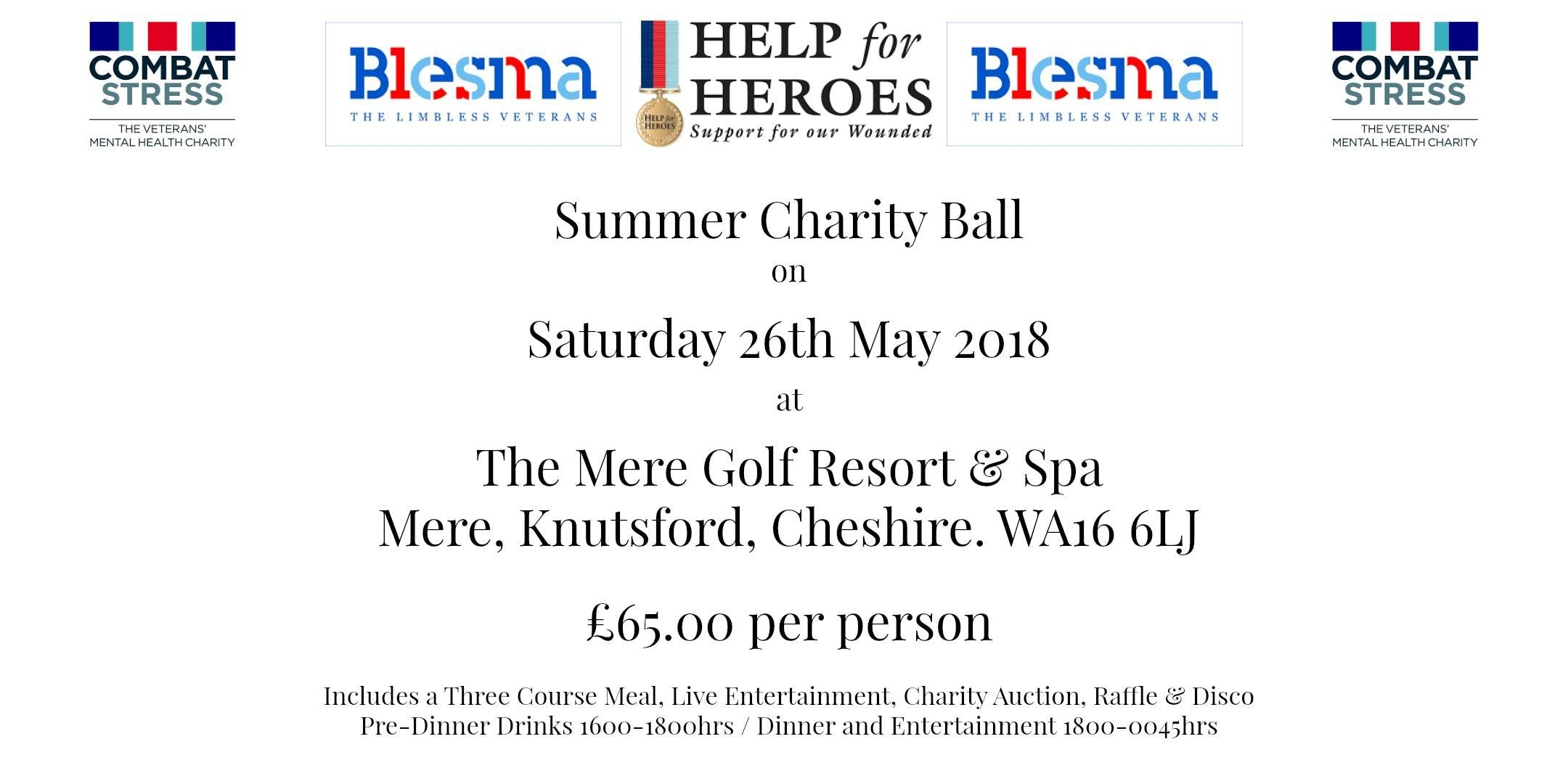 Summer Charity Ball in support of Combat Stre