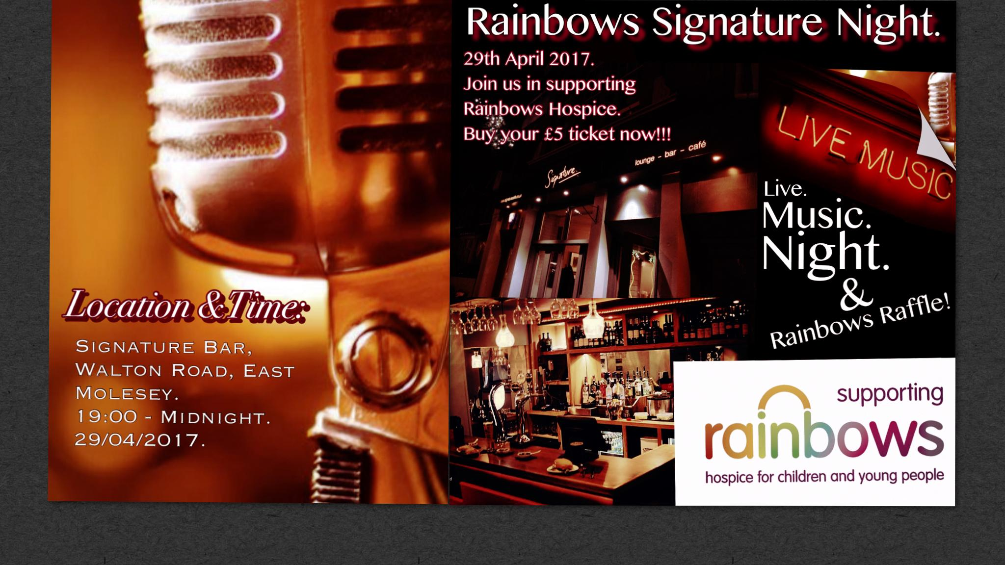 Rainbows Signature Night.