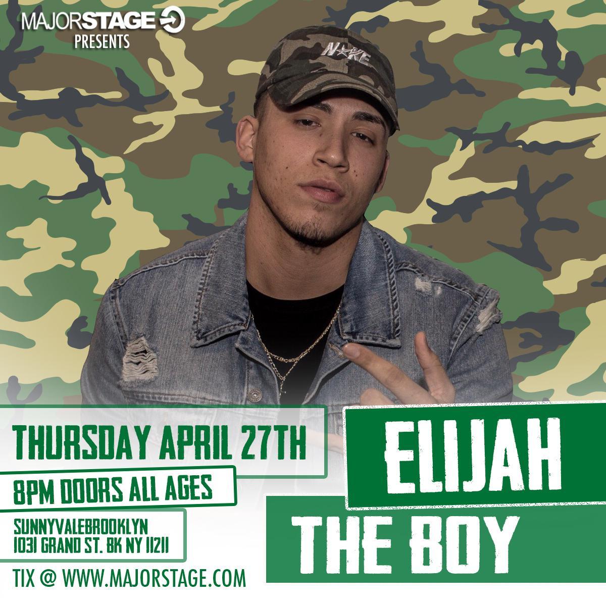 MajorStage presents Elijah The Boy Live in Br