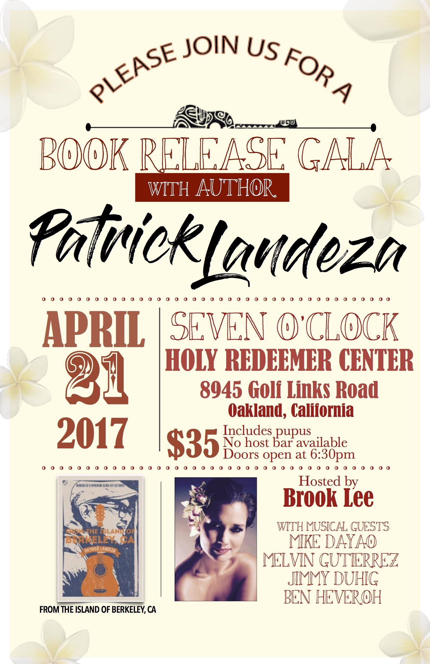 Patrick Landeza's Book Release Gala `From the Island of Berkeley`