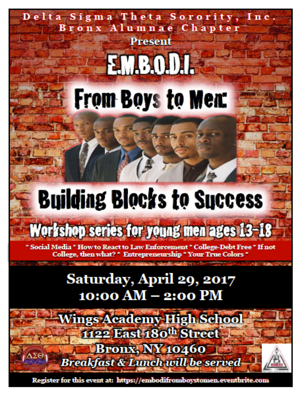 EMBODI-From Boys to Men: Building Blocks to S