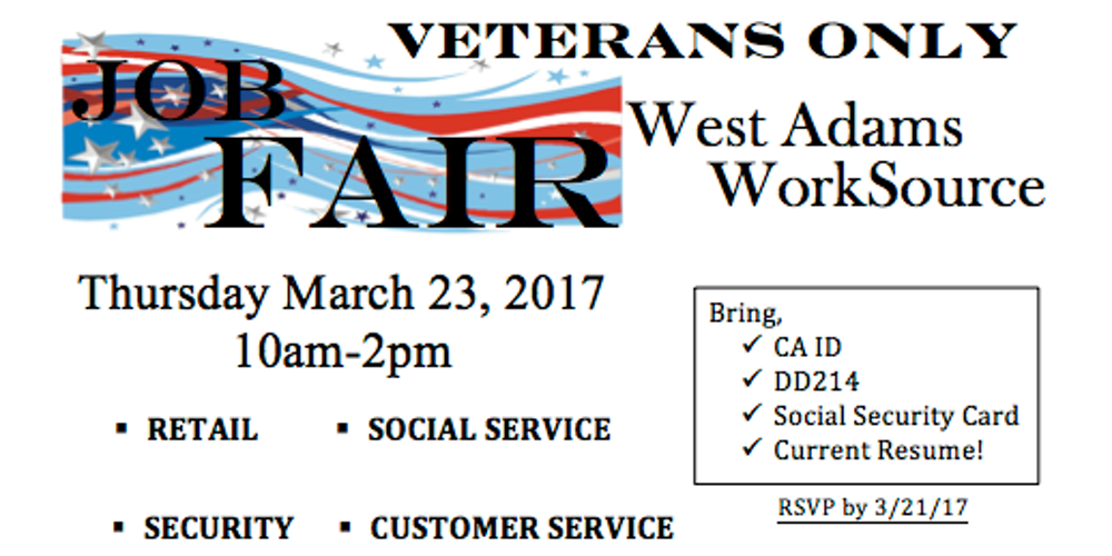 veterans job fair tickets thu mar 23 2017 at 10 00 am eventbrite