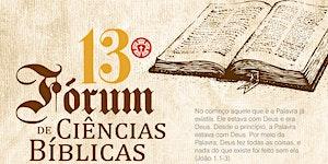 13º Fórum de Ciências Bíblicas