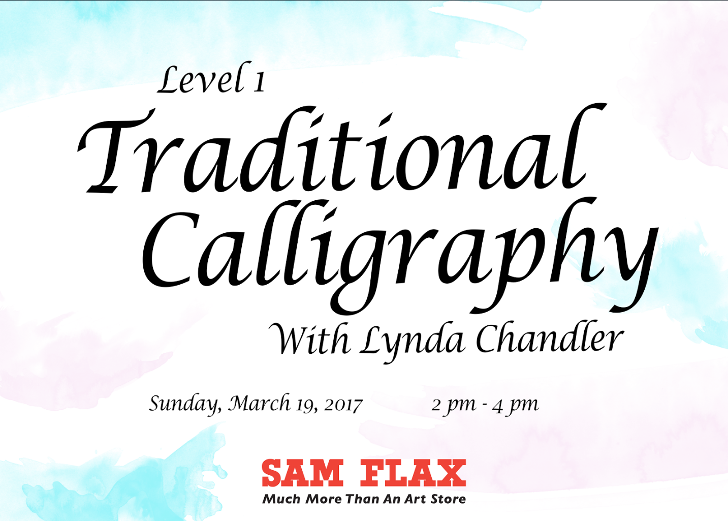 Traditional calligraphy 101 sam flax orlando 9 apr 2017 Calligraphy 101