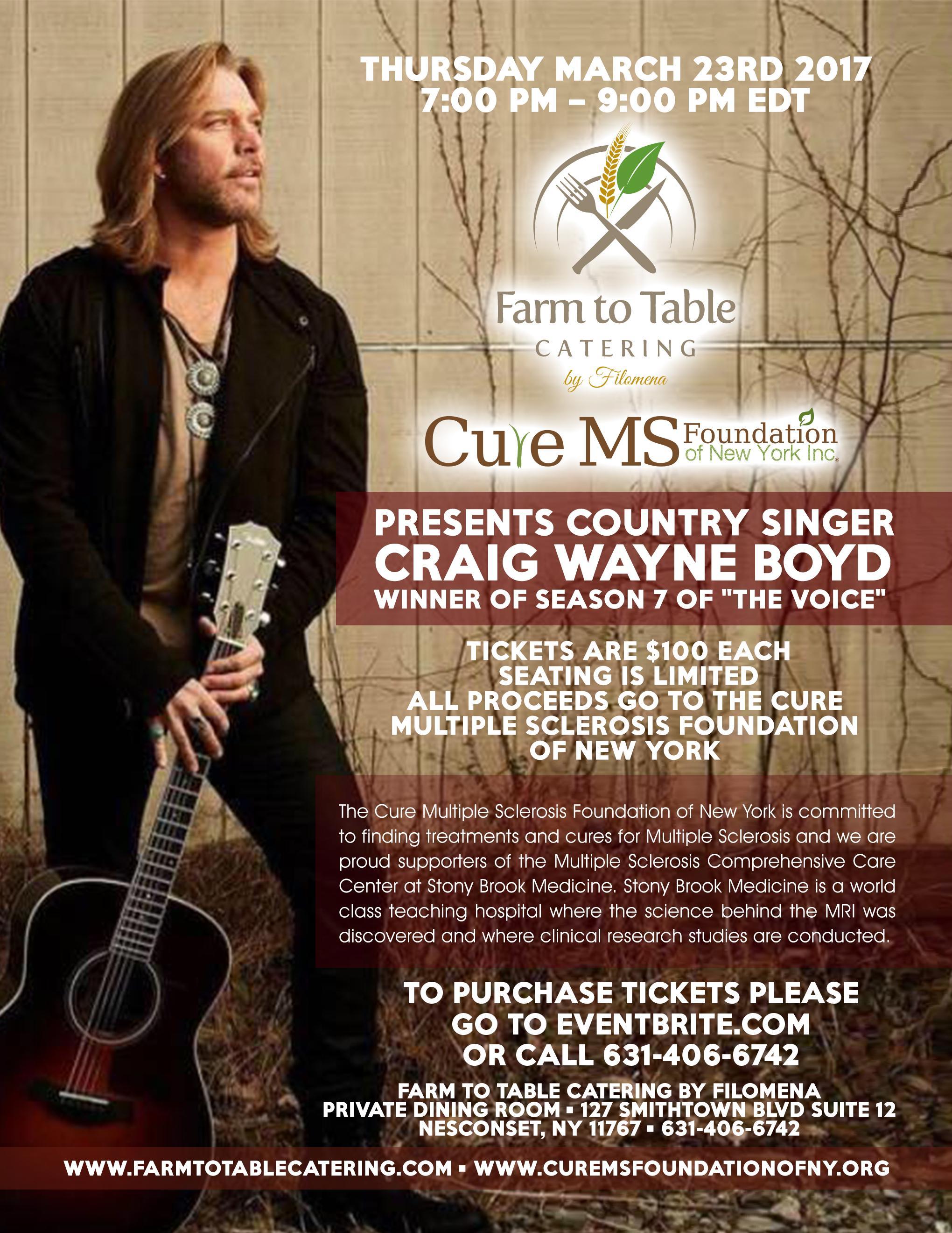 Meet Craig Wayne Boyd and Help Cure Multiple