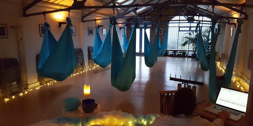 7-8:30pm Aerial Relaxation Pods… with live ambient music!