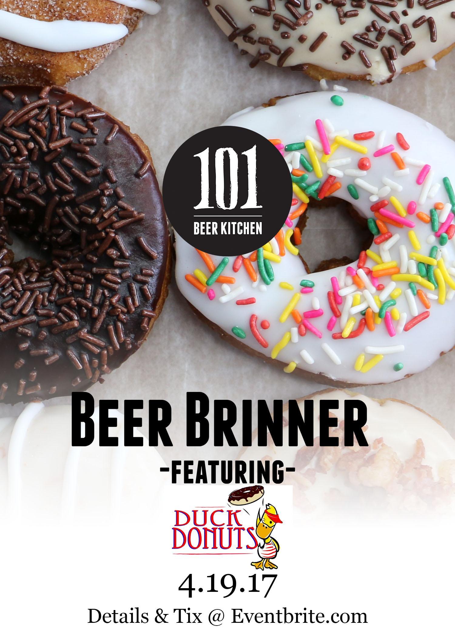 Beer Brinner! Featuring Duck Donuts @ 101 Beer Kitchen, Dublin ...
