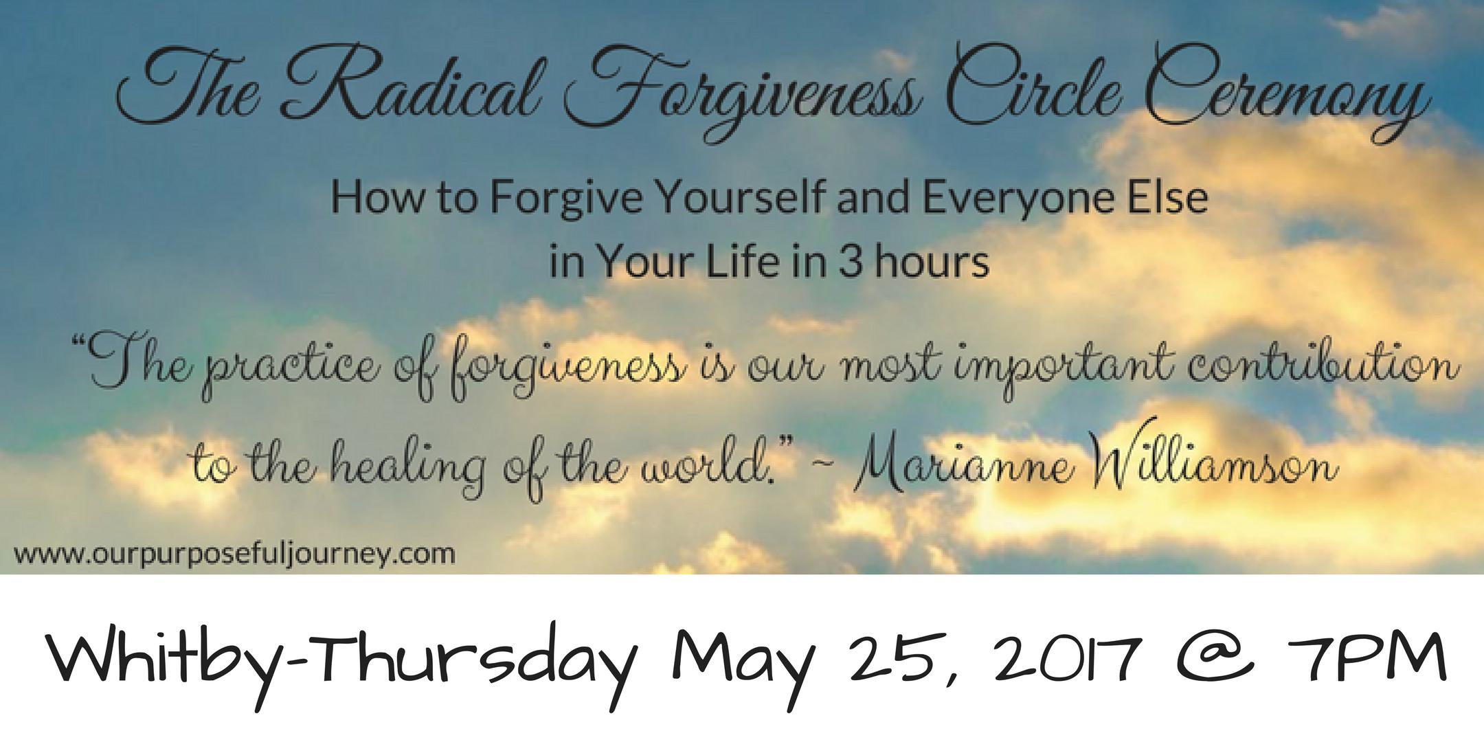 The Radical Forgiveness Circle Ceremony