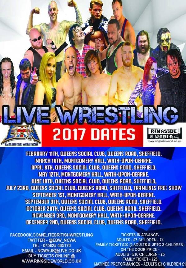 Live Wrestling in Sheffield EBW Apocalypse No