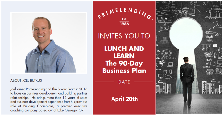 Lunch and Learn - The 90-Day Business Plan