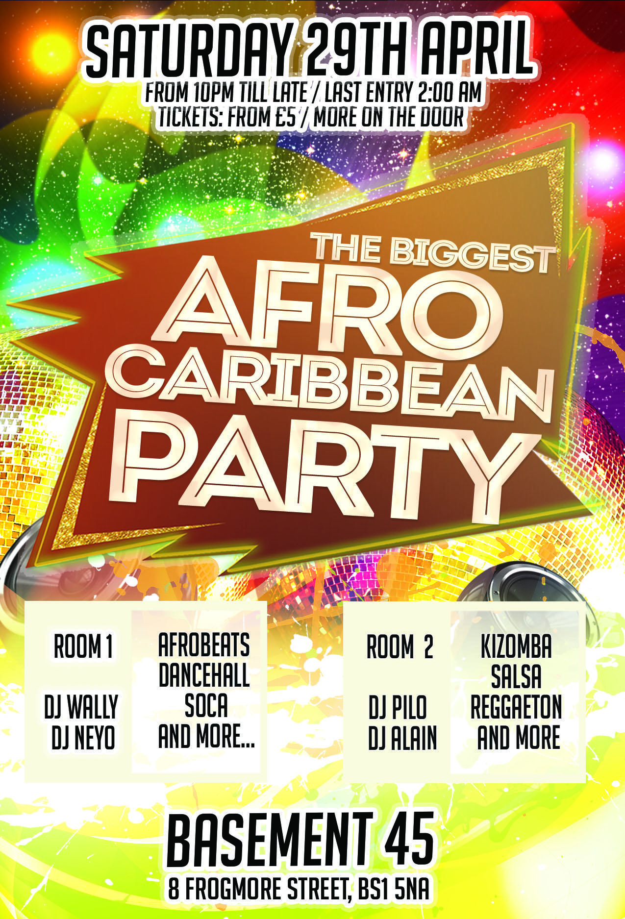 """THE BIGGEST AFRO CARIBBEAN PARTY """"SPRING EDIT"""