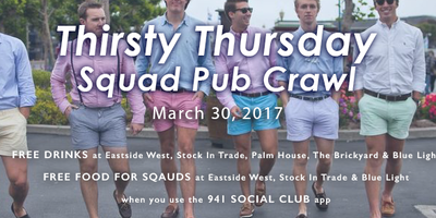 Squad Pub Crawl - Free Drinks and Food