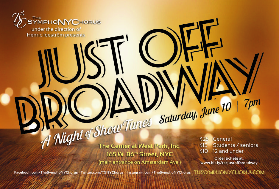 JUST OFF BROADWAY: A Night of Show Tunes