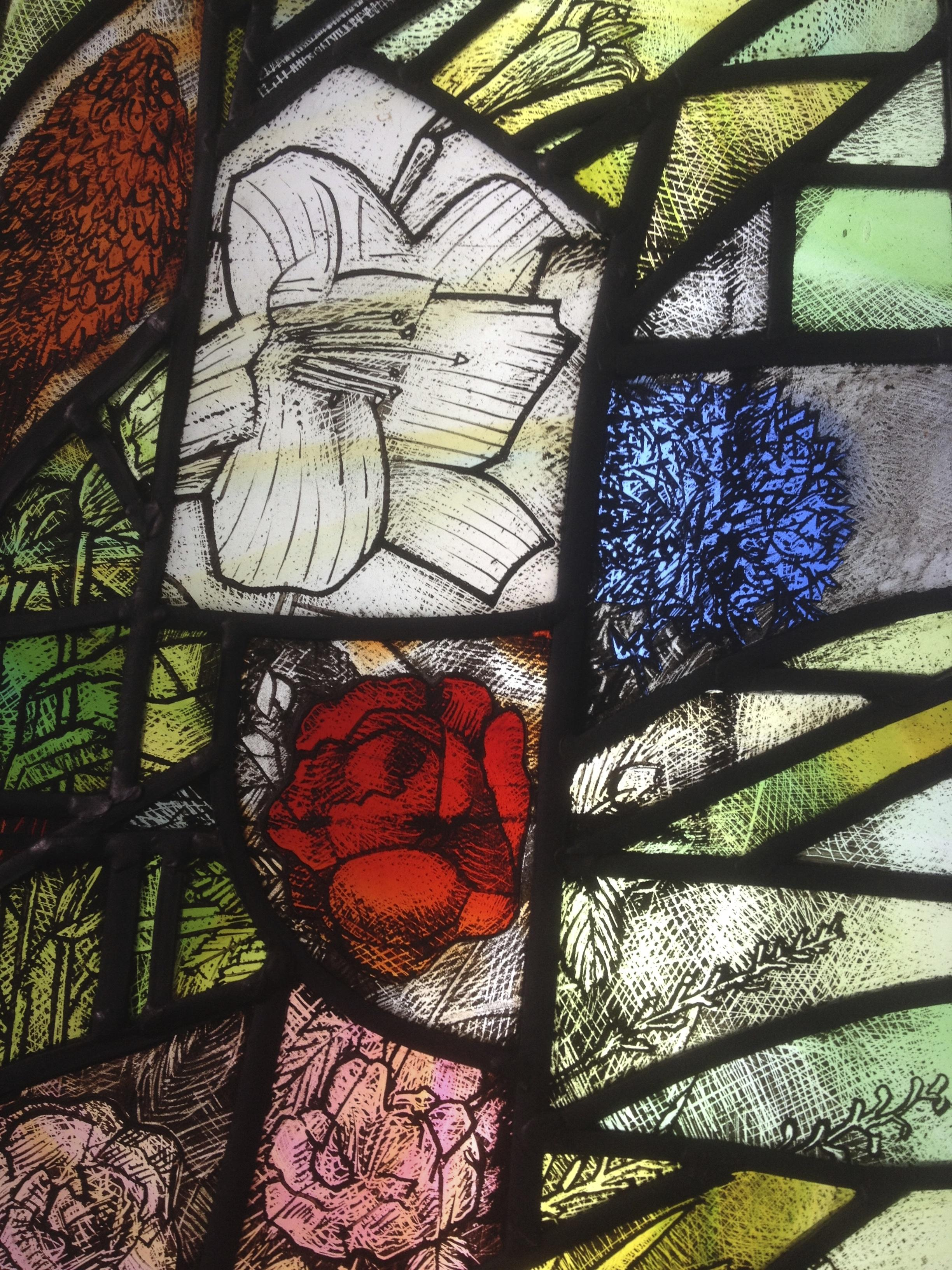 Painted and Stained Glass Assemblage