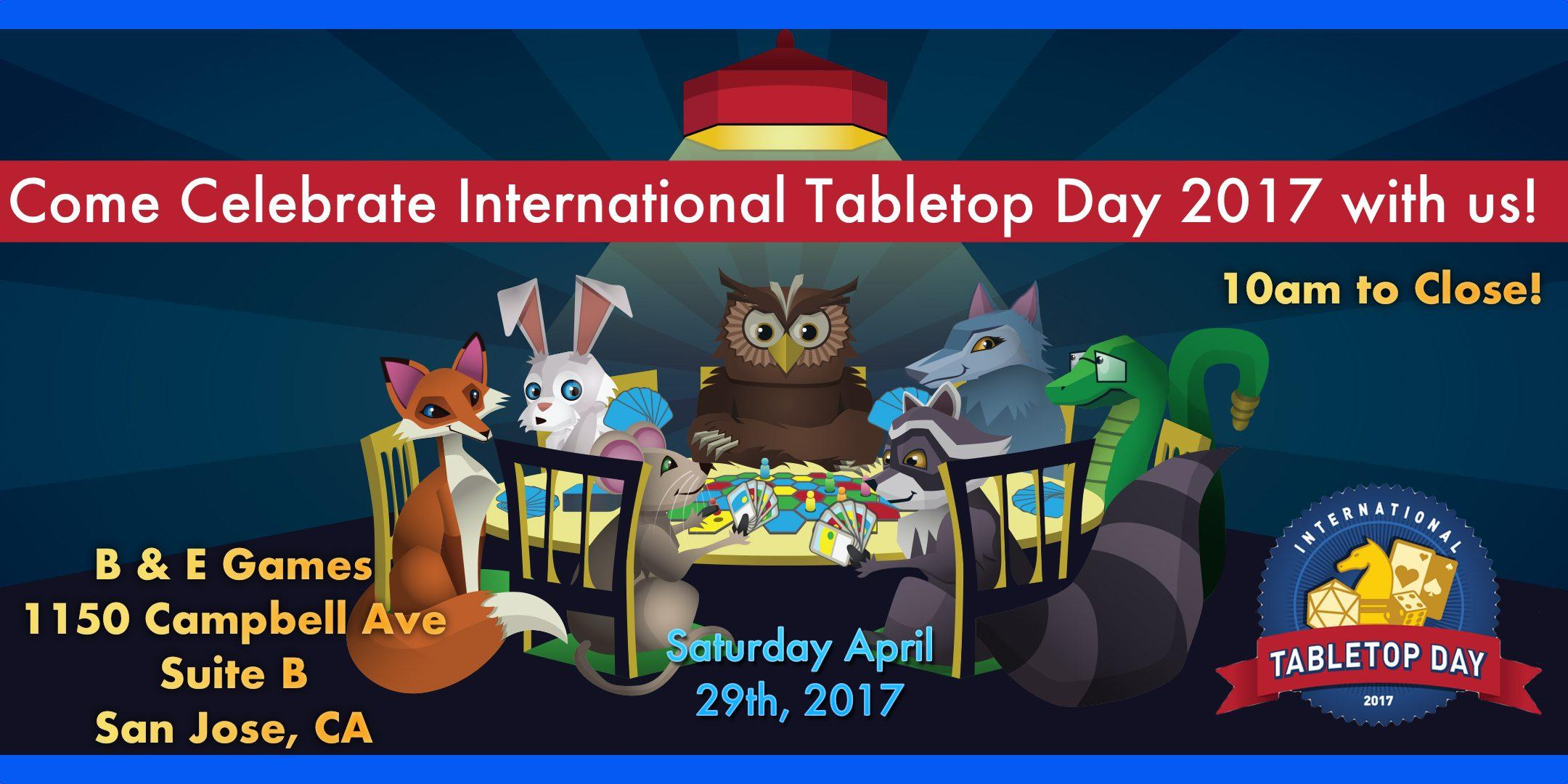 International TableTop Day 2017 with B & E Ga