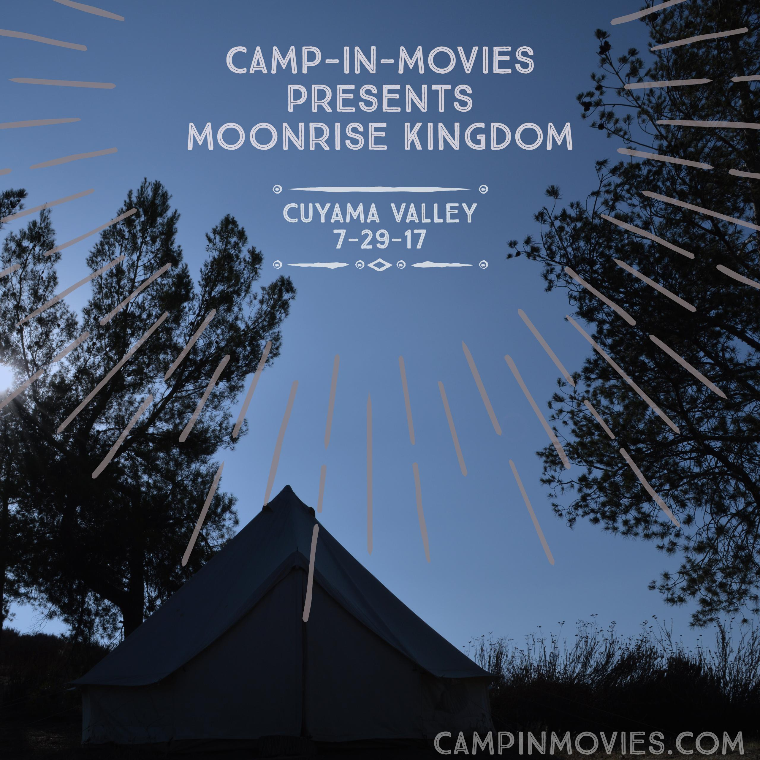 Camp-In-Movies Presents: Moonrise Kingdom