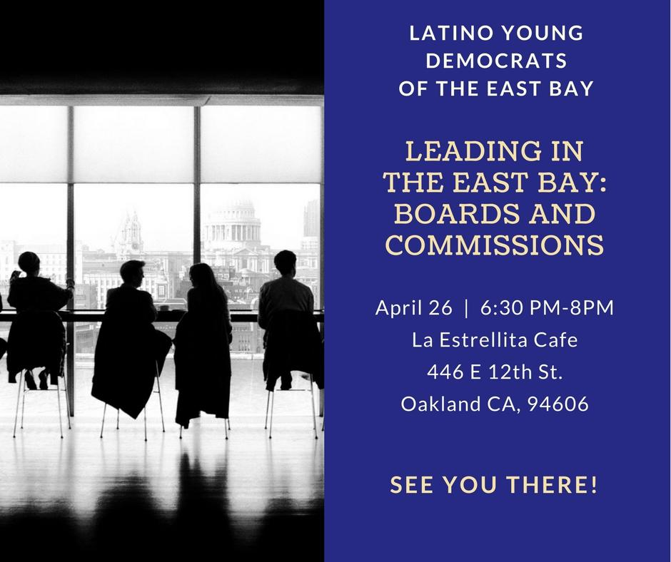Leading in the East Bay: Boards and Commissio