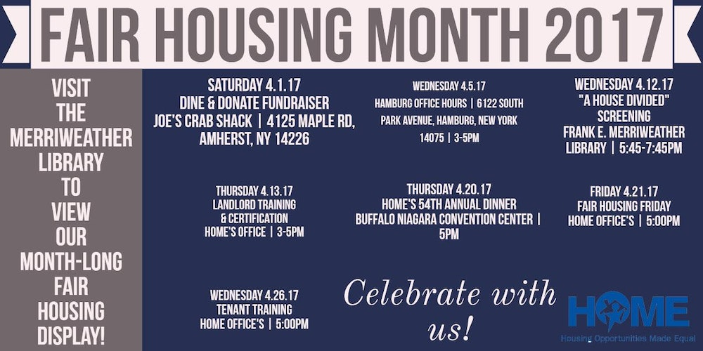 HOME PresentsFair Housing Month 17 Tickets Sat Apr 1 2017 At 1100 AM