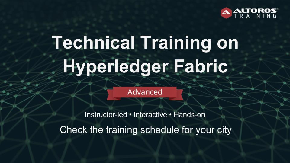 San Francisco: Technical Training on Hyperled