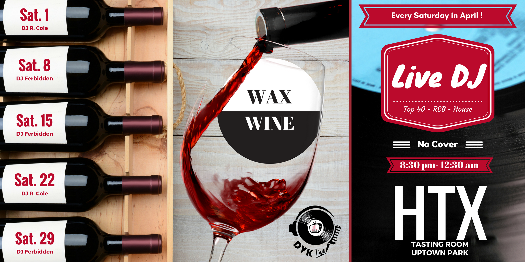 Live DJ - Wax and Wine - Tasting Room Uptown Park. Live DJ - Wax and Wine - Tasting Room Uptown Park