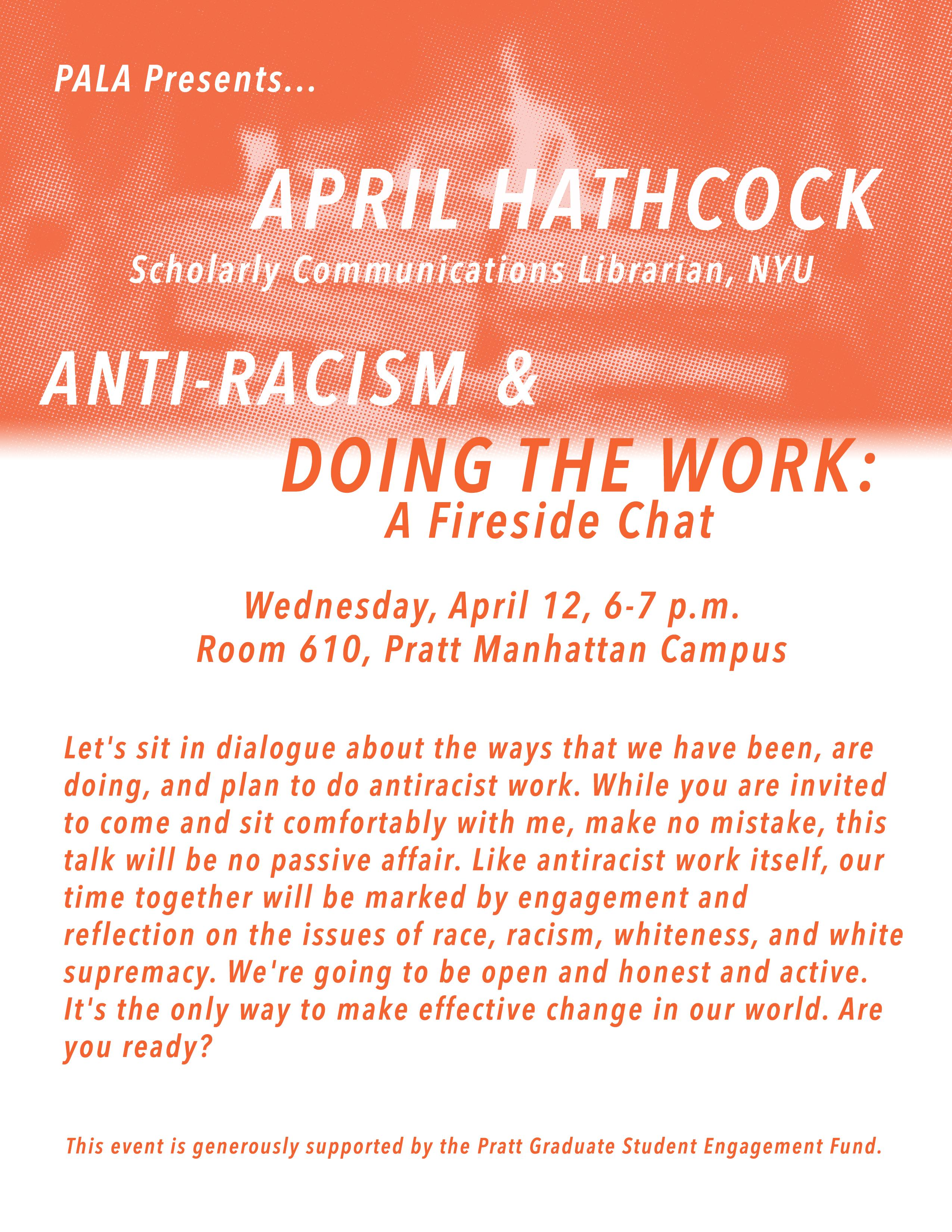 April Hathcock: Anti-Racism & Doing the Work, A Fireside Chat