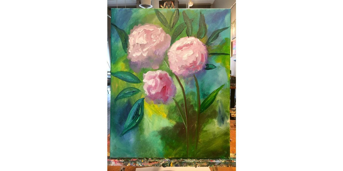 Pink Peonies, Sat. June 17th, 4pm, $35