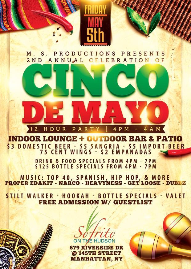 Cinco De Mayo Party at Sofrito. Cinco De Mayo Party at Sofrito