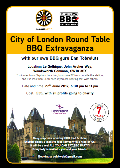 City of London Round Table BBQ Extravaganza!