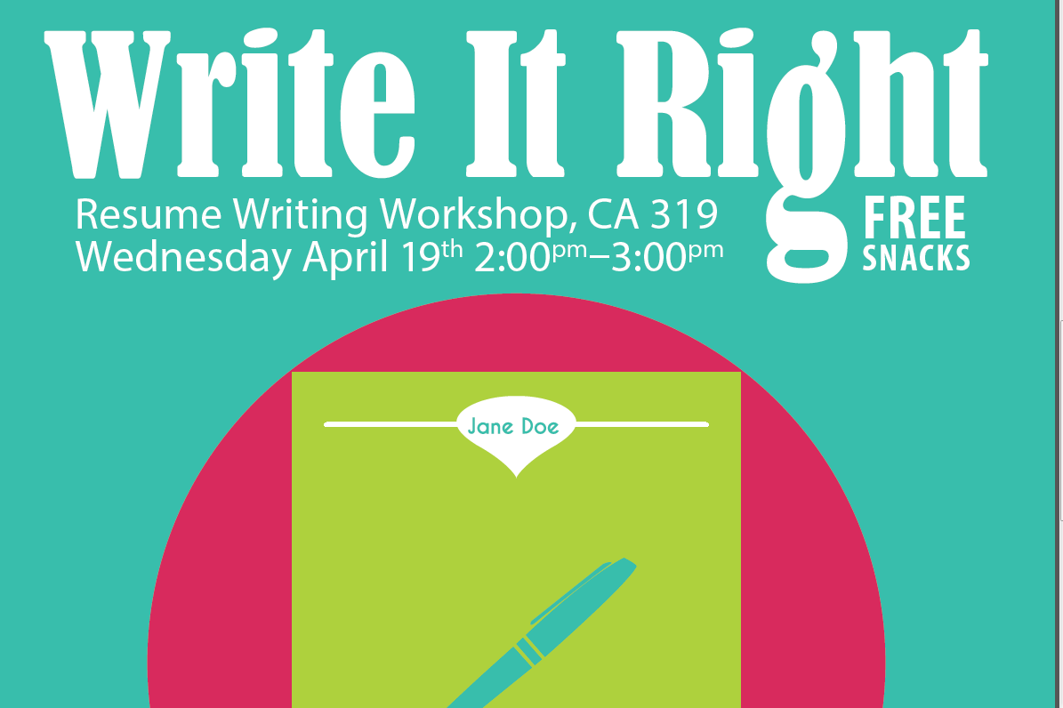 write it right resume workshop presented by career services - Resume Writing Workshop