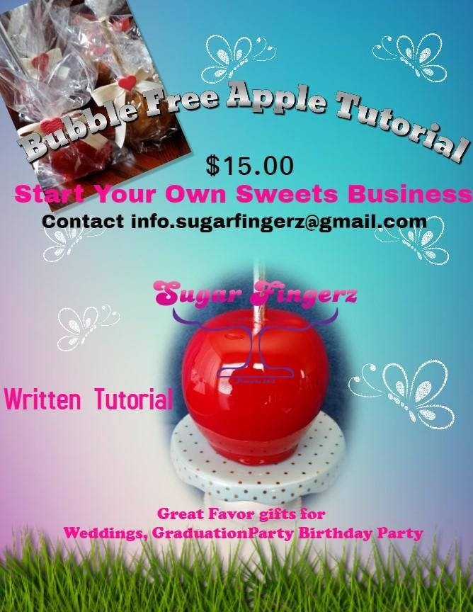 Bubble Free Basic Candy Apple Tutorial (detai