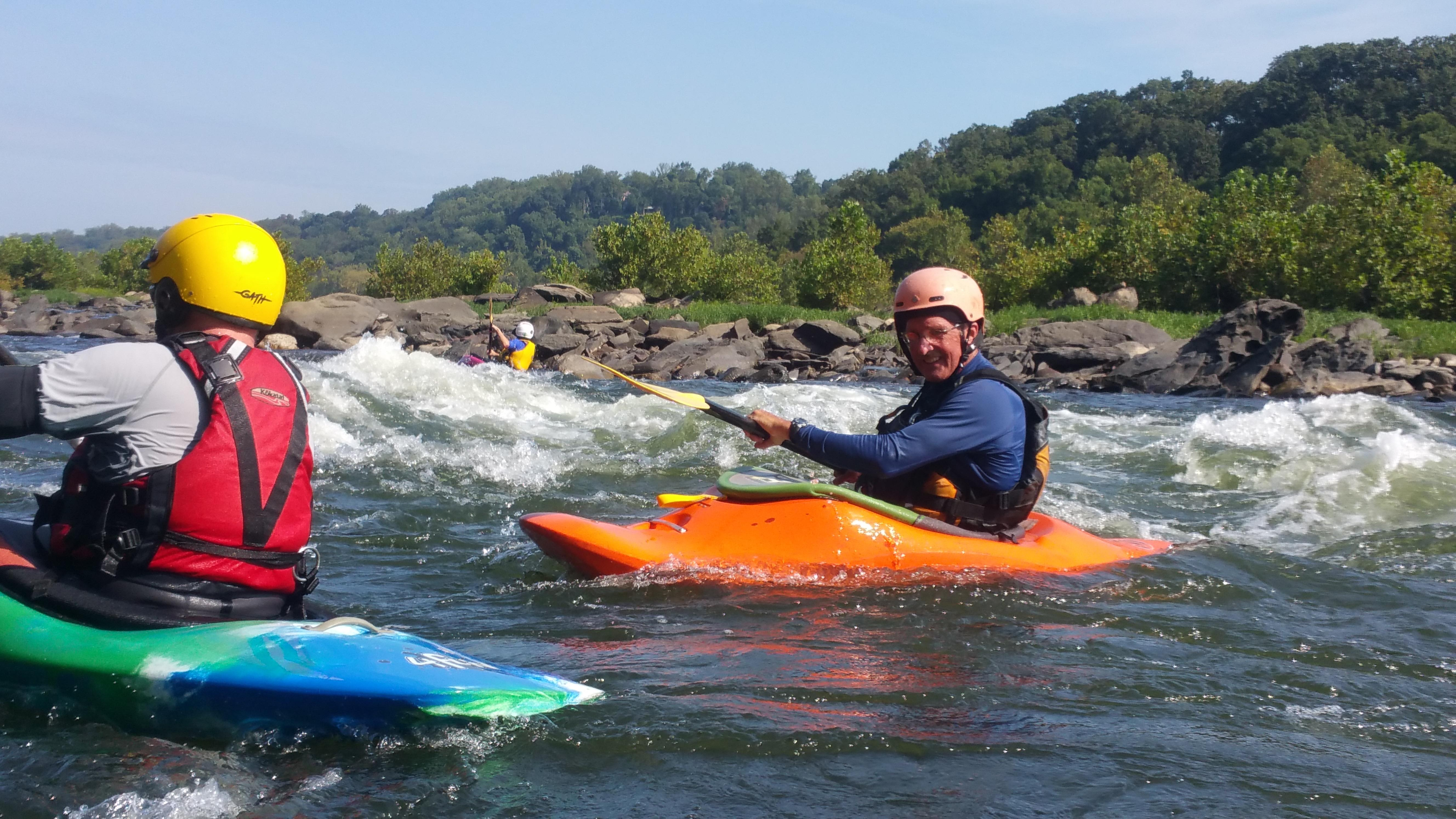 Surfing at the Chutes