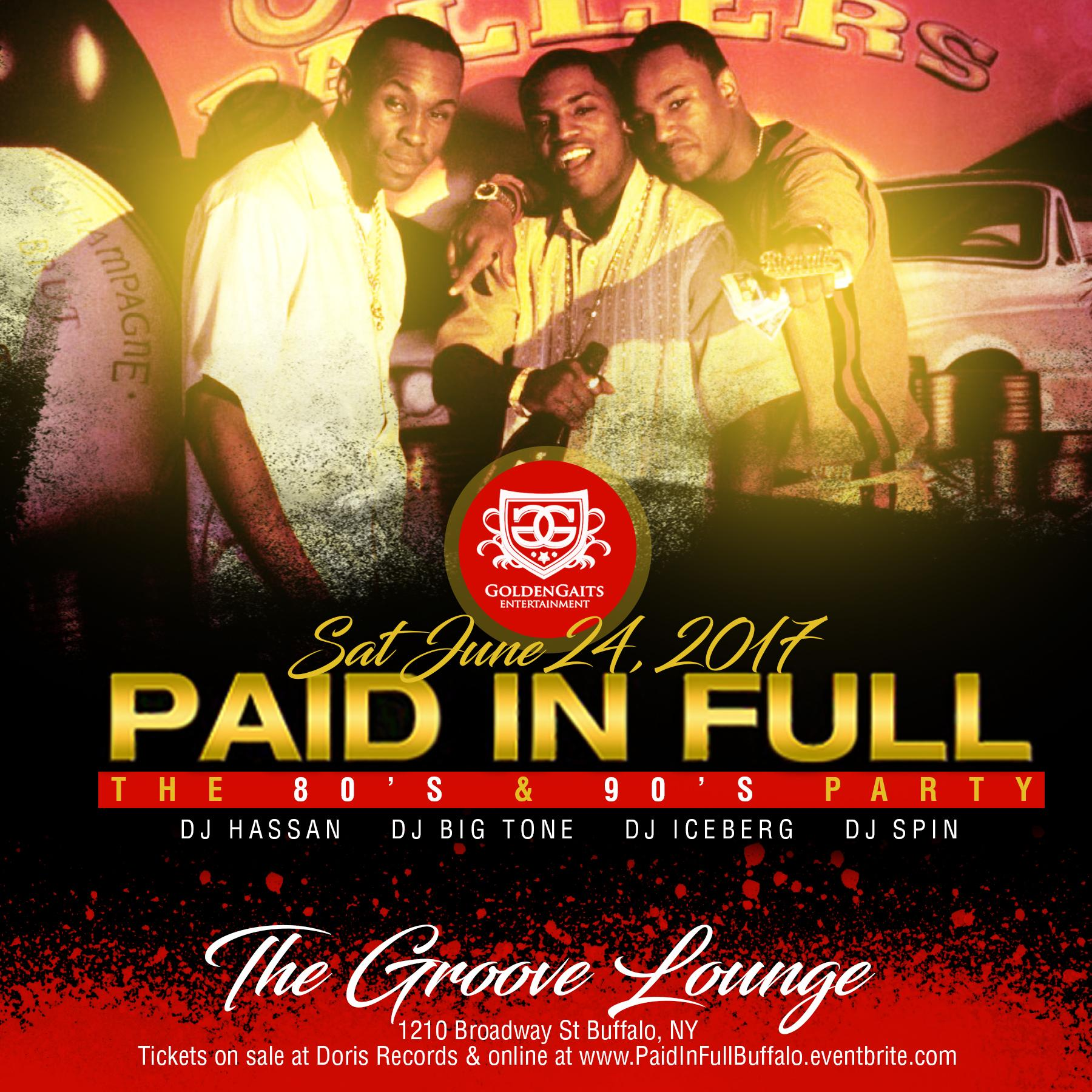 Paid In Full - The 80s & 90s Party