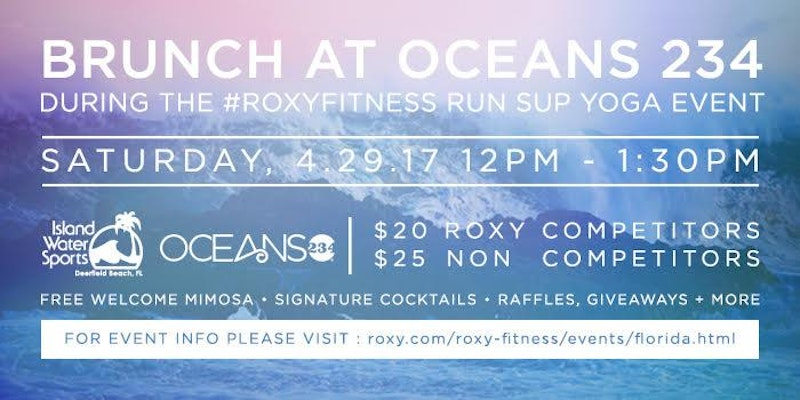 Roxy Event April 29 Deerfield Beach Island Water Sports South Florida
