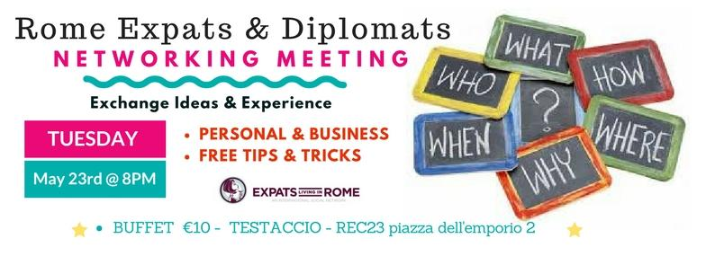 Rome Expats & Diplomats Networking Meeting