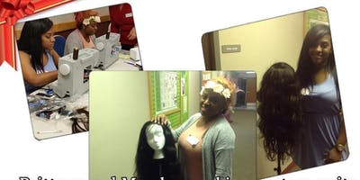 """SEWING MACHINE EDITION"" ALL ABOUT THE WIG'S ""HANDS ON SEWING MACHINE WIG WORK SHOPS"" WIG  CLASS"