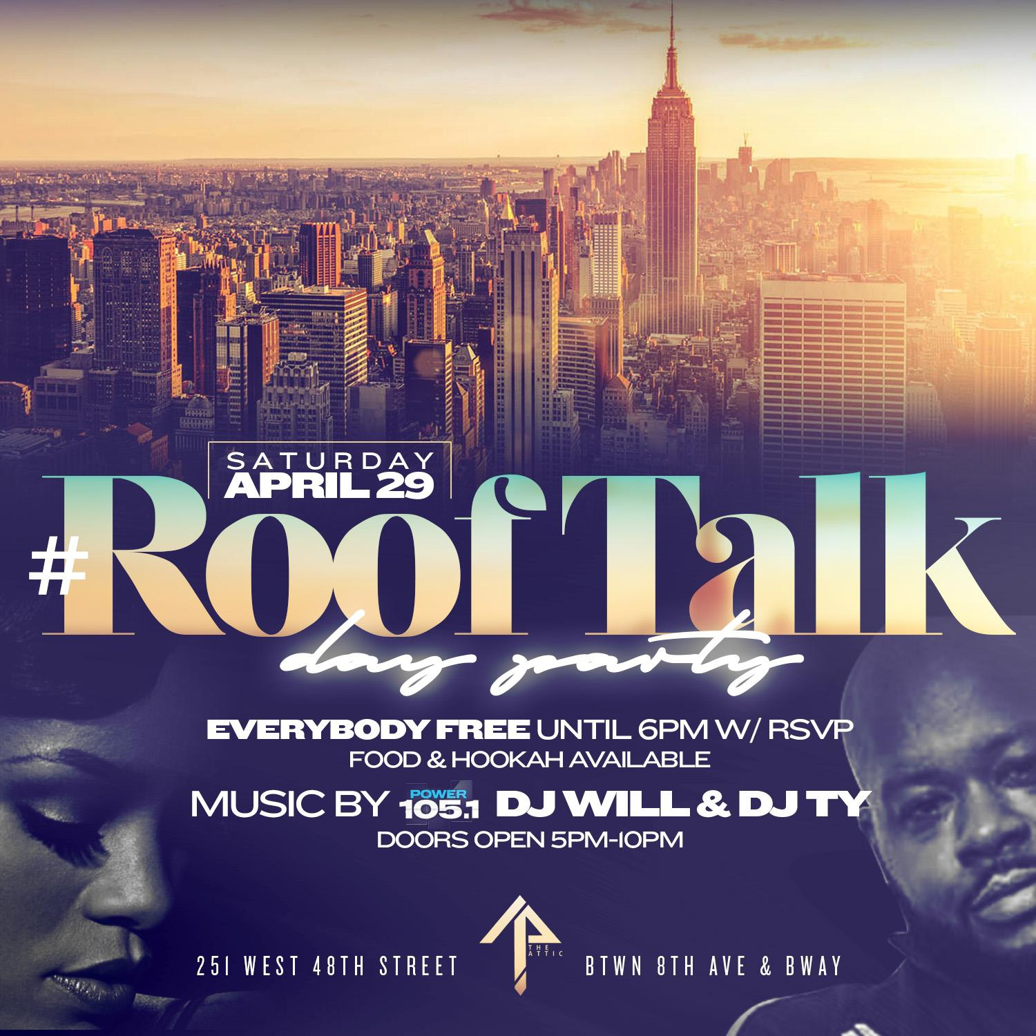 chase simms presents rooftalk rooftop party at the attic the