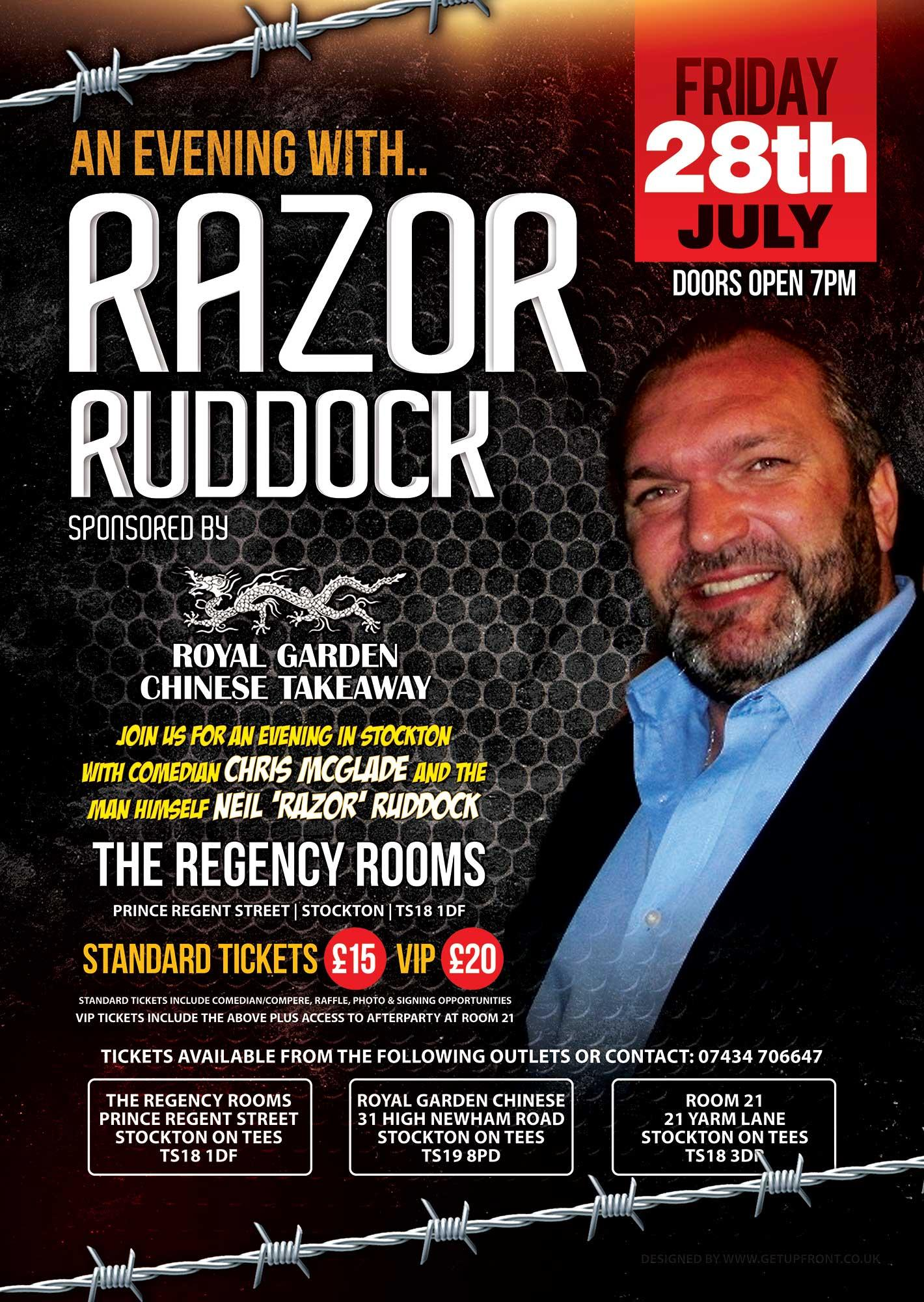 Unique An Evening With Neil Razor Ruddock  Stocktonontees Thornaby  With Heavenly An Evening With Neil Razor Ruddock  With Delectable Garden Plants For Shade Also Amisfield Walled Garden In Addition Lee Garden Sutton Coldfield And Garden Flood Lights As Well As Garden Fencing Supplies Additionally Decorative Garden Fence Panels From Evensiuk With   Heavenly An Evening With Neil Razor Ruddock  Stocktonontees Thornaby  With Delectable An Evening With Neil Razor Ruddock  And Unique Garden Plants For Shade Also Amisfield Walled Garden In Addition Lee Garden Sutton Coldfield From Evensiuk