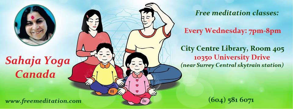 Free Sahaja Yoga Meditation Classes in Surrey