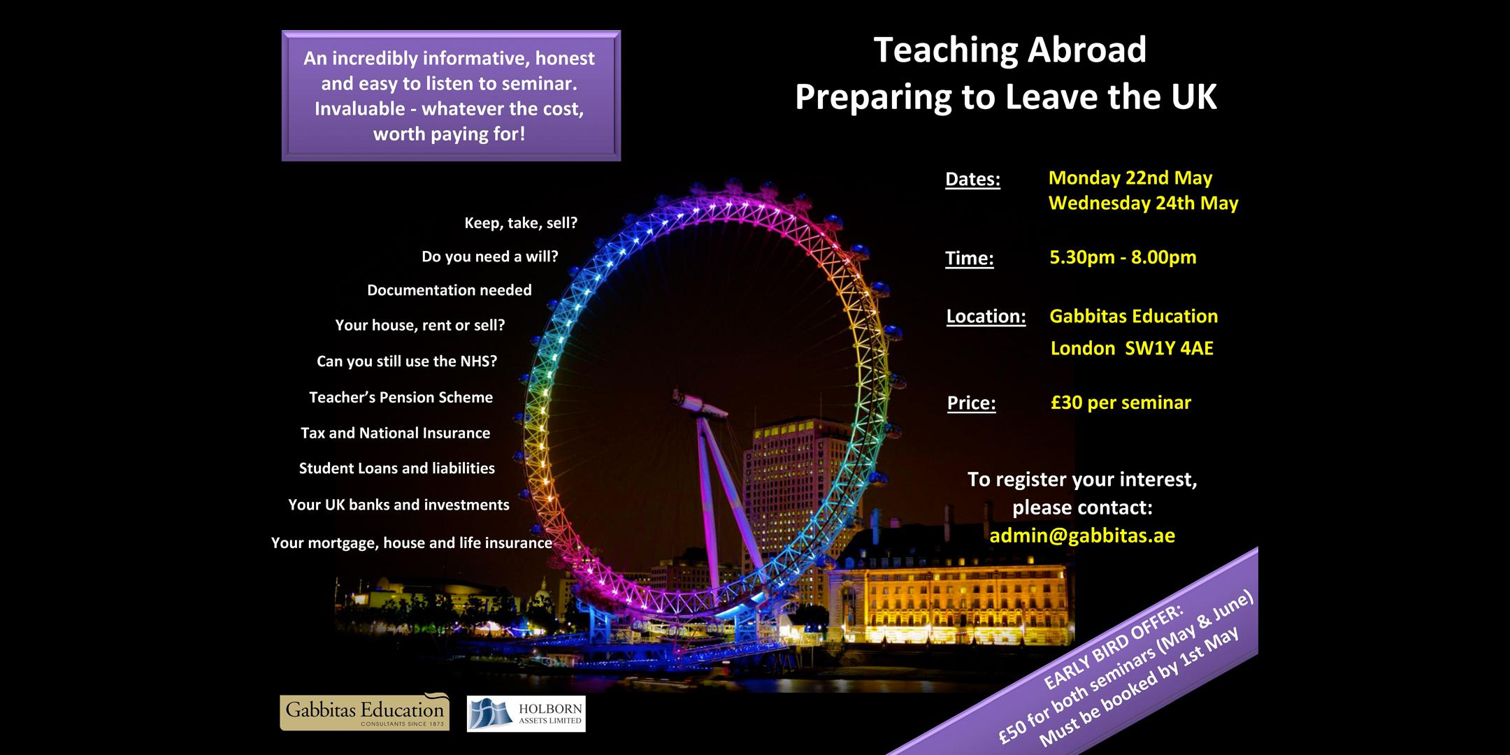 Teaching Abroad: Preparing to leave the UK &