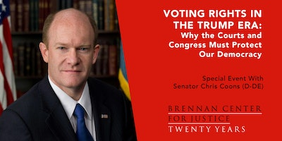 Voting Rights in the Trump Era: A Conversation with Senator Coons