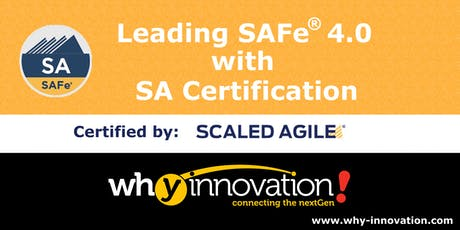 Leading SAFe® 4.0 with SA Certification (SG) tickets